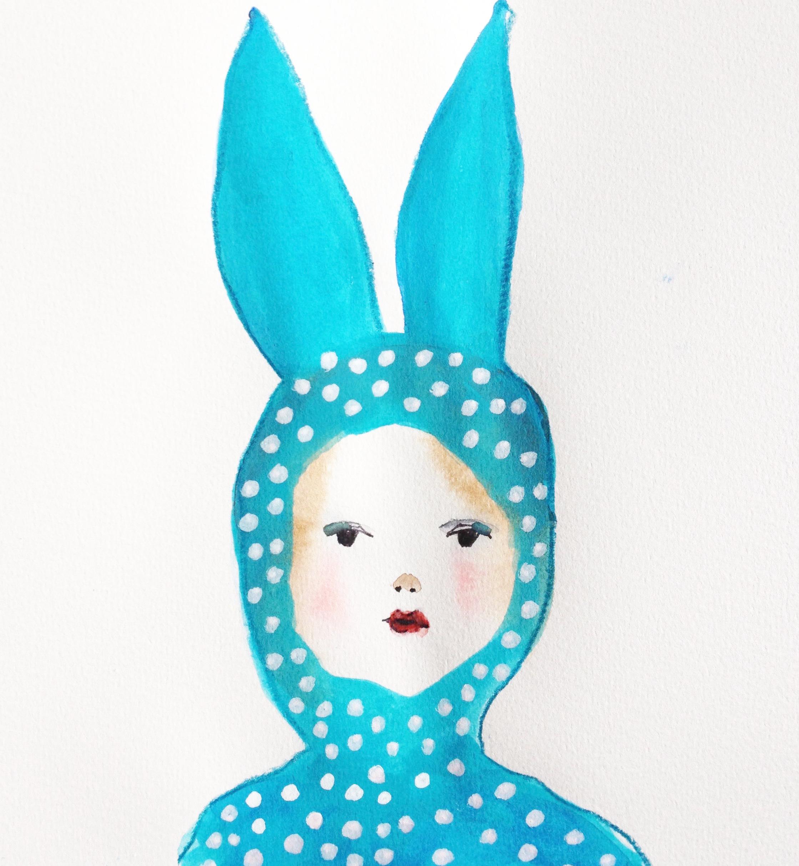 Dressed like a bunny